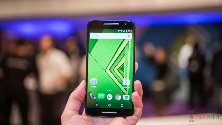 A full HD display with brilliant colors moto x play