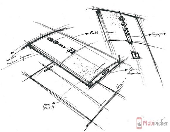 oneplus 2, leak, sketch, rough, dual camera, dual lens, specification