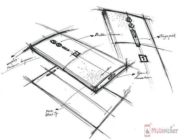 oneplus 2, leak, sketch, rough, dual camera, dual lens, specification