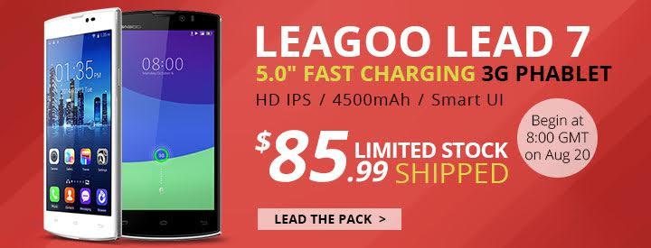 leagoo lead 7, flash sale, discount, price