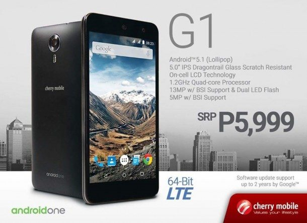 cherry mobile one g1, android one phone, price, philippines, specification, image