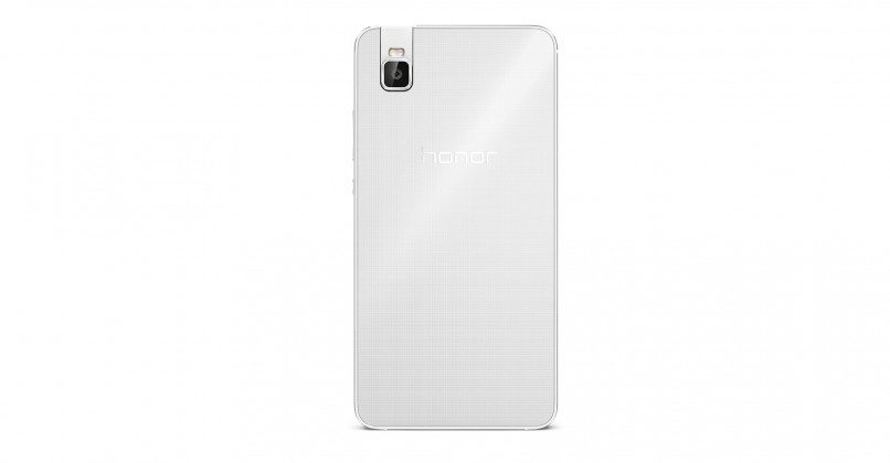 huawei honor 7i rear view, white, pic