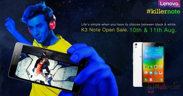 lenovo k3 note open sale india, flipkart