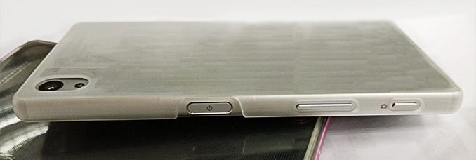 sony xperia z5, dummy image, leaks, specs, side view, protective case