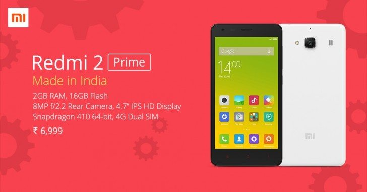 xiaomi redmi 2 prime, features, specification, launch in india