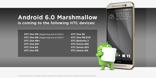 HTC Marshmallow table