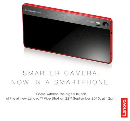 lenovo vibe shot india launch