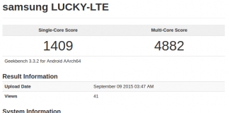 samsung lucky lte geekbench score, exynos 8890 leaks