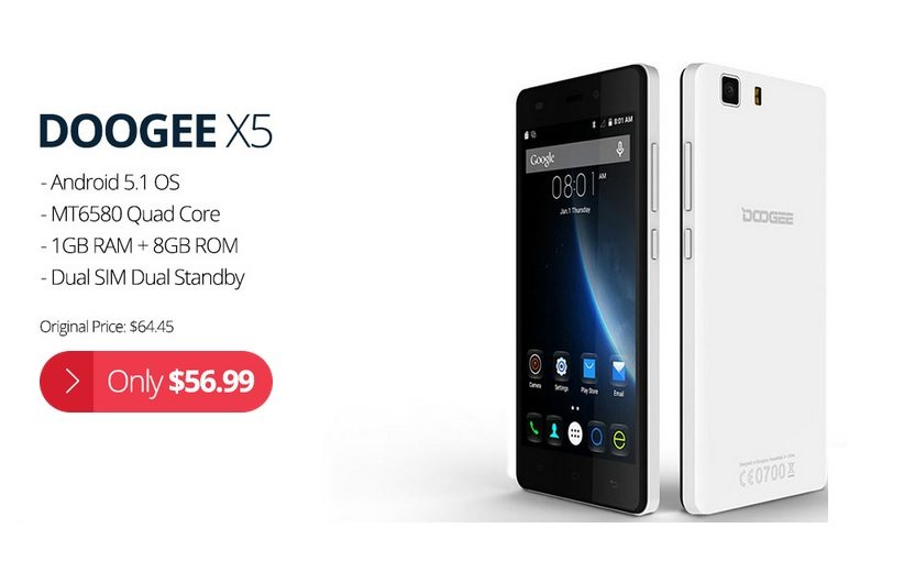 doogee x5, price offer, sale, discount