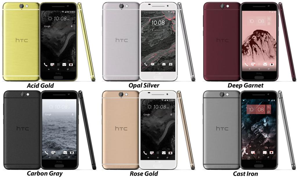 htc one a9 leaks in six different colours