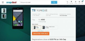 yu yunique snapdeal price, features, specs