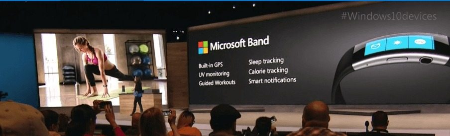 Micrsoft Band, Windows 10 event