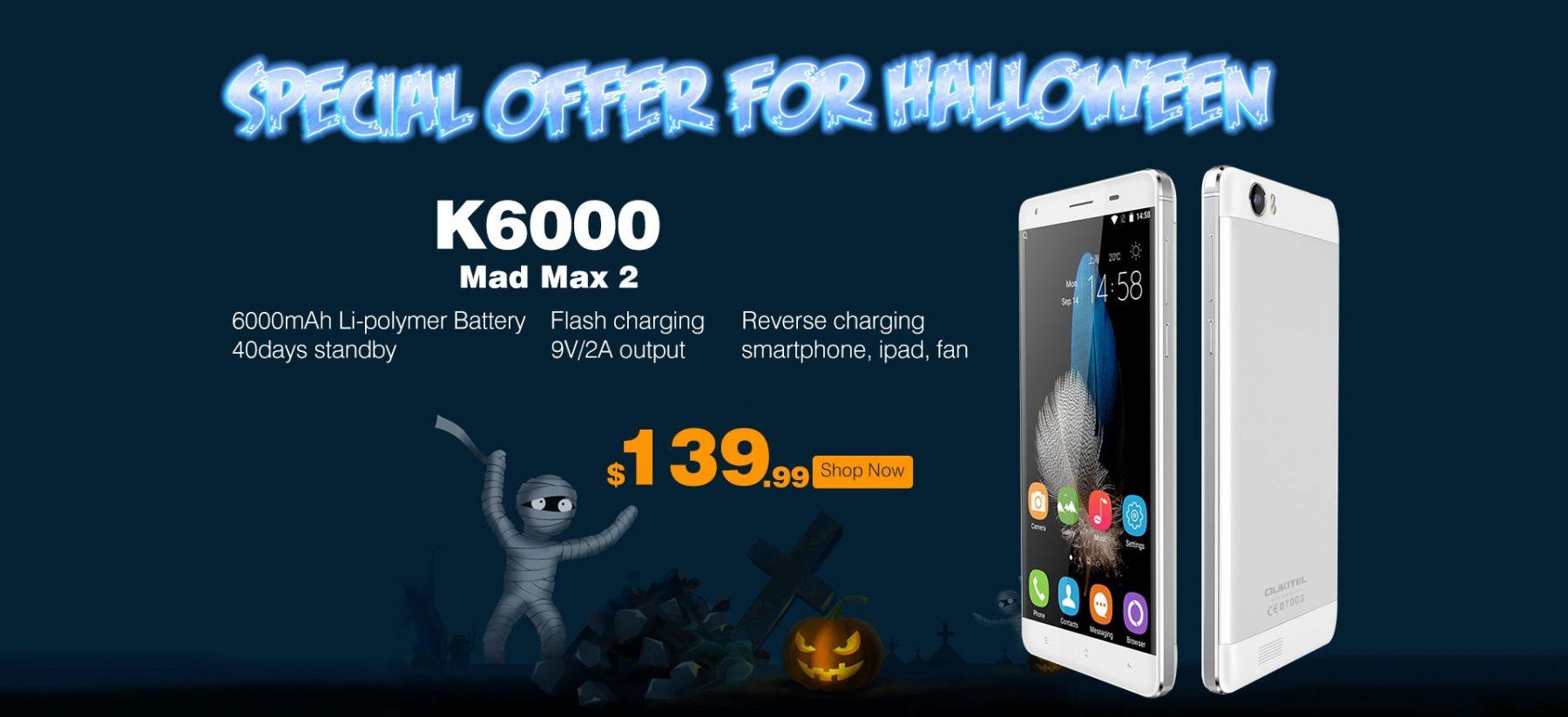 oukitel k6000, price, pre-order
