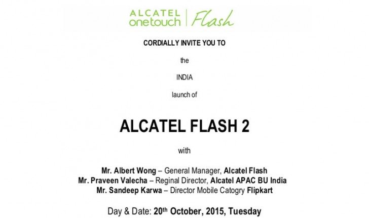 alcatel onetouch flash 2, india launch