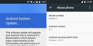 android one smartphones, android marshmallow software update