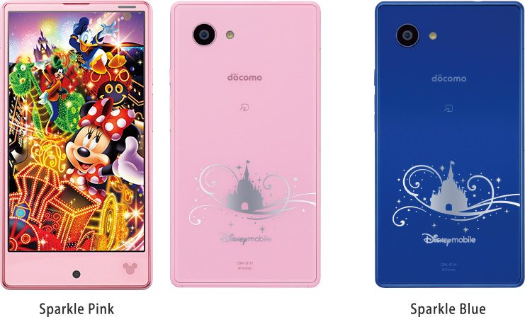 Sharp Aquos Zeta SH-01H, Sharp corporation, Sharp Aquos Compact SH-02H, disney themed phone