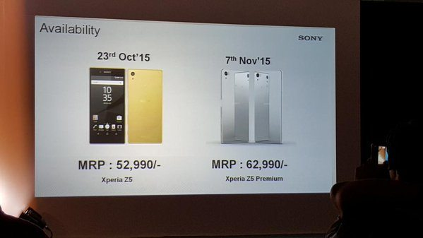 sony xperia z5 india launch, price, release date