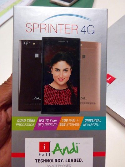 iBall Andi Sprinter 4G launch india