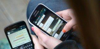 using whatsapp