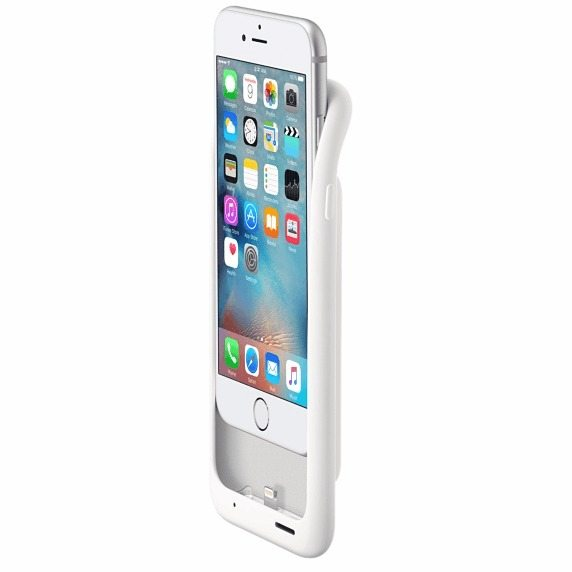 apple smart battery case white