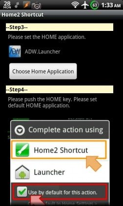 app shortcut android hack