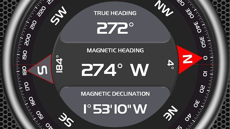 baraometer and compass on android phone