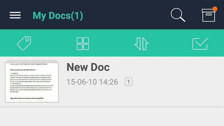 scan documents with android phone