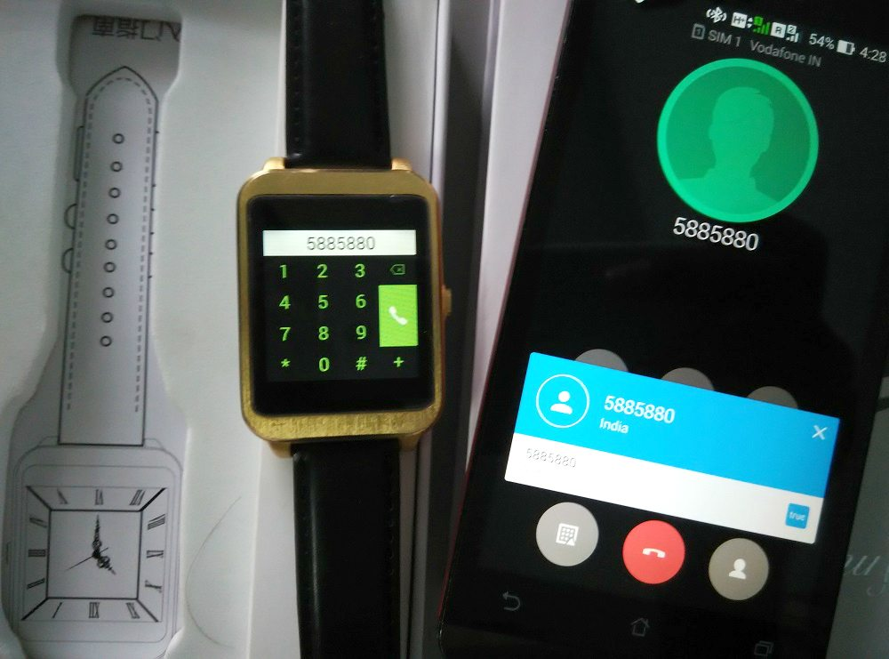i95 Android Smartwatch connected to phone