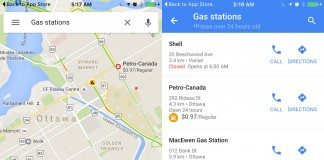 google maps gas prices