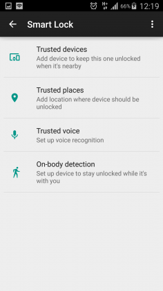 smart lock on android