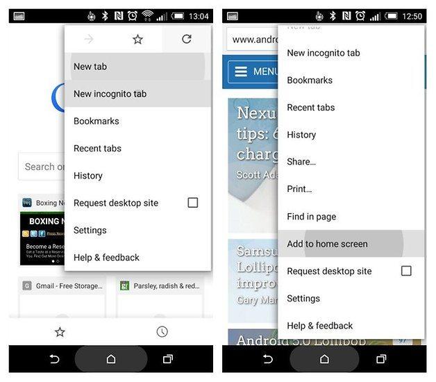 4. Go straight to menu options