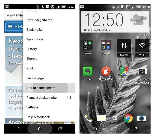 8. Turn favourite sites in home screen icons