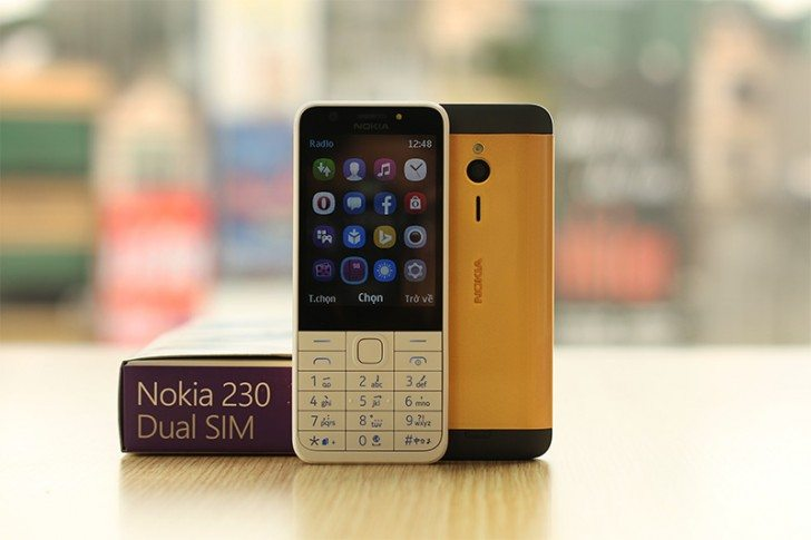 gold plated nokia 230
