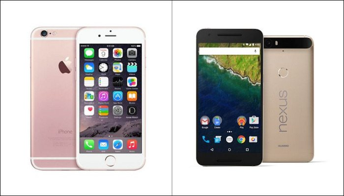 iphone 6s vs nexus 6p