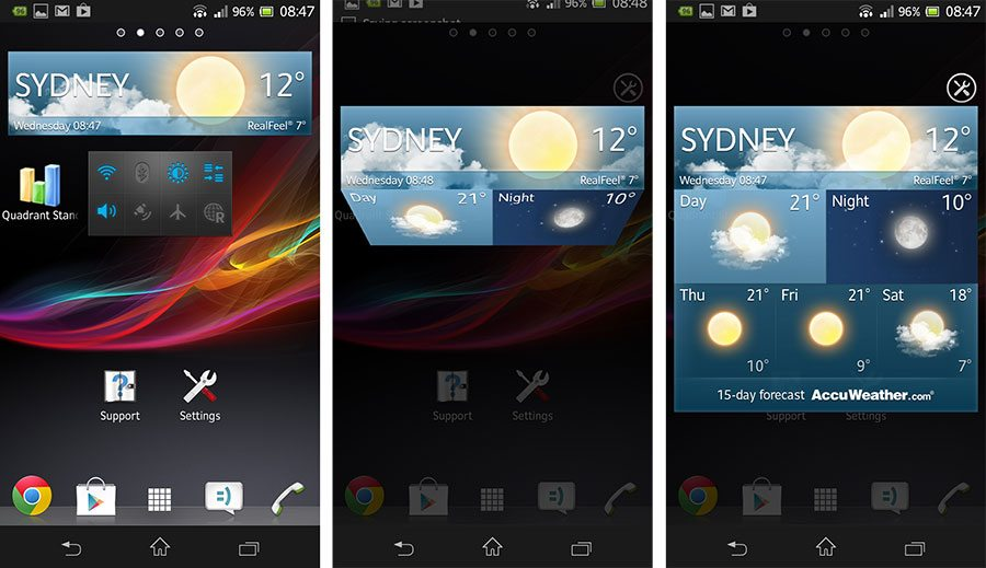 xperia weather app download