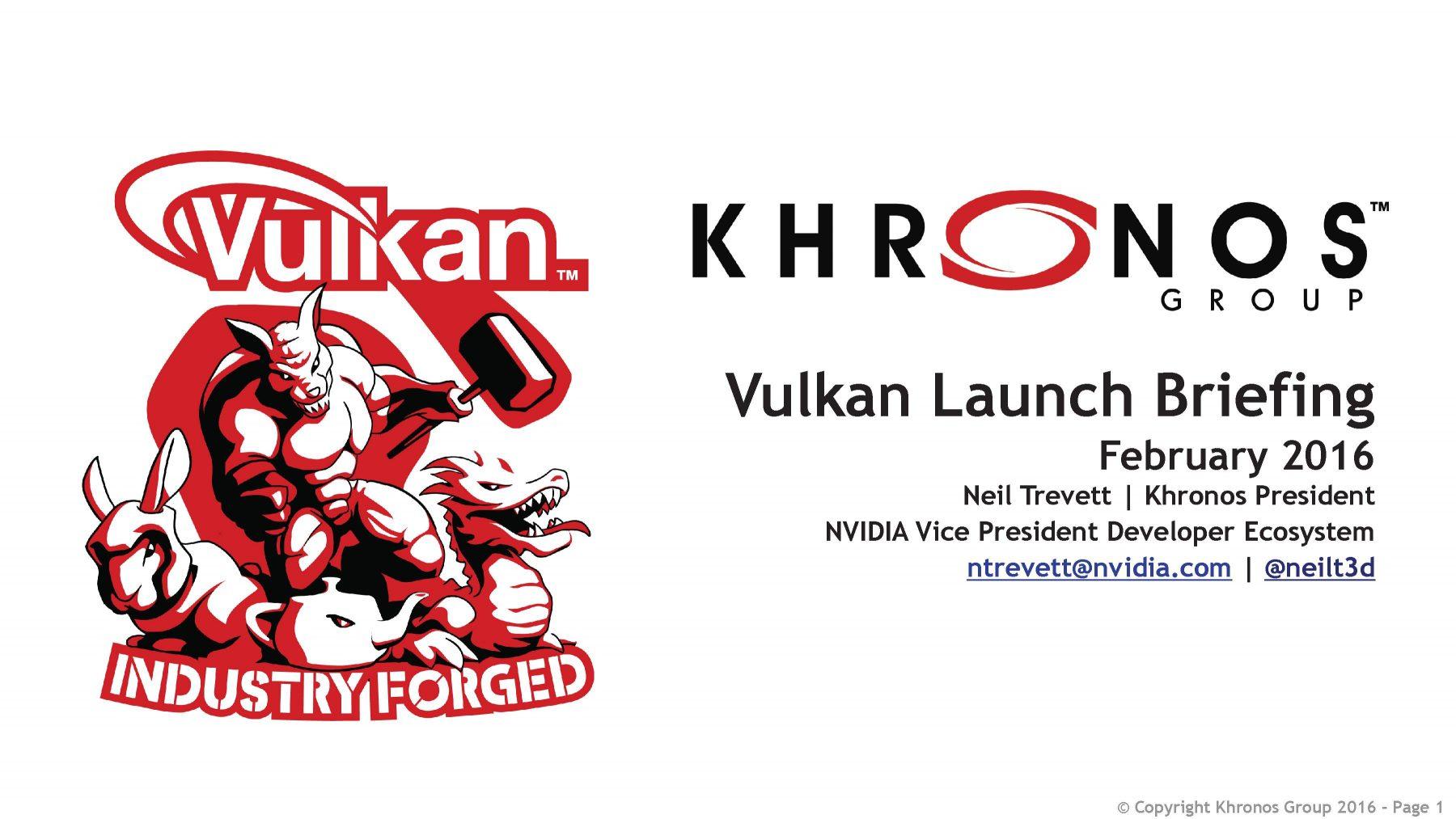 Khronos Vulkan 1.0