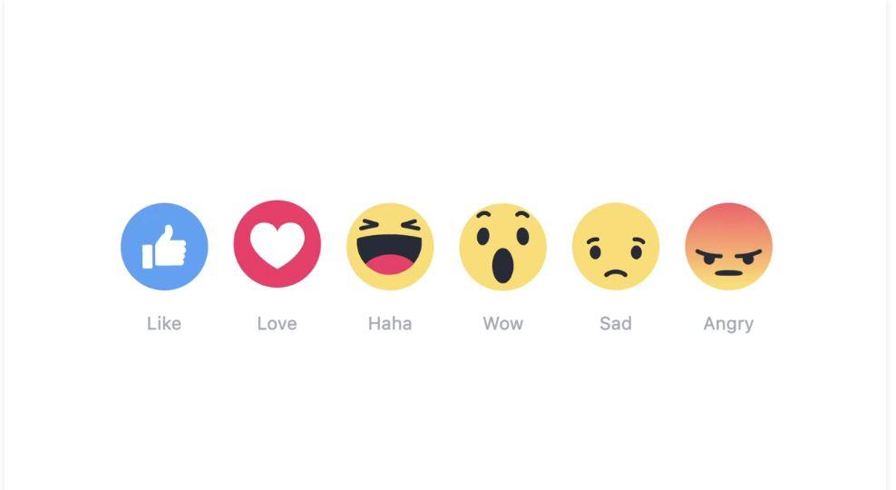 facebook reaction emojis