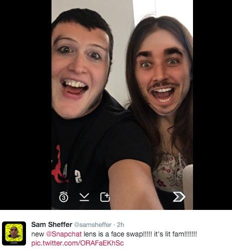 how to face swap on snapchat