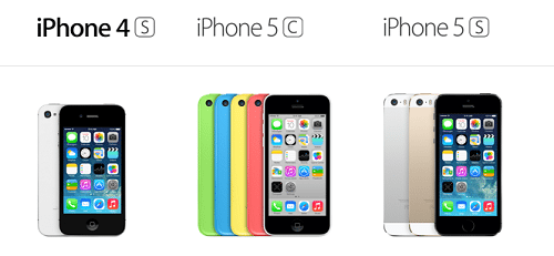 iPhone4SiPhone5CiPhone5S