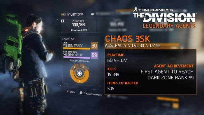 The Division Legendary Agent