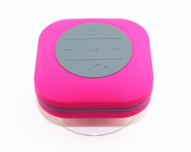 Portable Wireless Hands-Free Waterproof Bluetooth Speaker with Detachable Suction Cup for Shower(