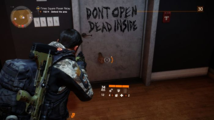 The Division Walking Dead Easter Egg
