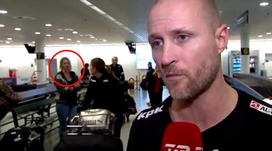 A bewildering clip from a live tv interview aired by Denmark's TV2 channel shows a woman in the background vanishing into the thin air. Expectedly, the video soon went viral and got everyone pondering what could be the explanation behind the mysterious footage. Even the woman herself was not sure what happened. In the video below, you can see the coach for Denmark's women's national handball team being interviewed by the tv channel. However, it is the background that remains the focal point of the video. A woman who can be seen standing behind the coach, disappears within a blink eye as another woman momentarily obscures her from the frame.  Admittedly, the internet is full of such spooky videos showing unexplainable events and phenomenon, but this was different from most of them as footage had been aired live and there was no evidence it was doctored. While many believe there was something supernatural going in the background of the video, hence this mysterious disappearance, actually it may have been just an illusion caused caused by synchronous movement of the two women in the background. If you watch closely, the blonde woman turns a little toward left just when the lady with the baggage was about to obscure her from the view. That was probably because she was about to walk off to the left. Presumably she moved at the same pace as the lady in the foreground, causing the illusion.
