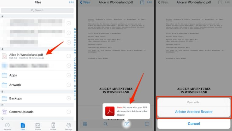 edit pdf files on iphone