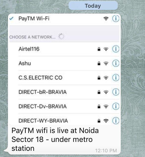 paytm free wifi delhi noida india