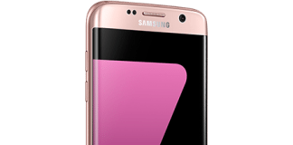 galaxy s7 edge pink gold front