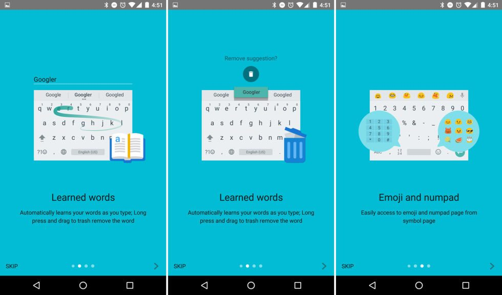 google keyboard 5 1 new themes and emojis devicedaily com