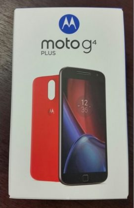 moto g4 plus box front