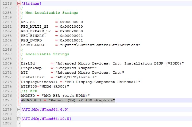 AMD Radeon RX 480 Pre-release driver