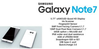 galaxy note 7 features specs